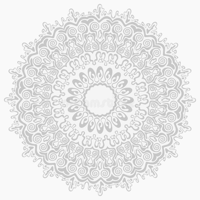 αφηρημένο άνευ ραφής ασήμι προτύπων διακοσμήσεων διανυσματική απεικόνιση