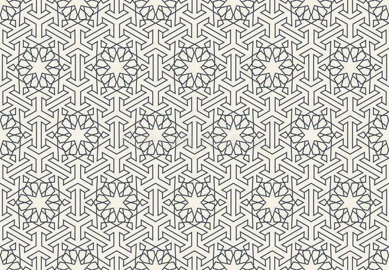 Αφηρημένο άνευ ραφής γεωμετρικό ισλαμικό σχέδιο ταπετσαριών απεικόνιση αποθεμάτων