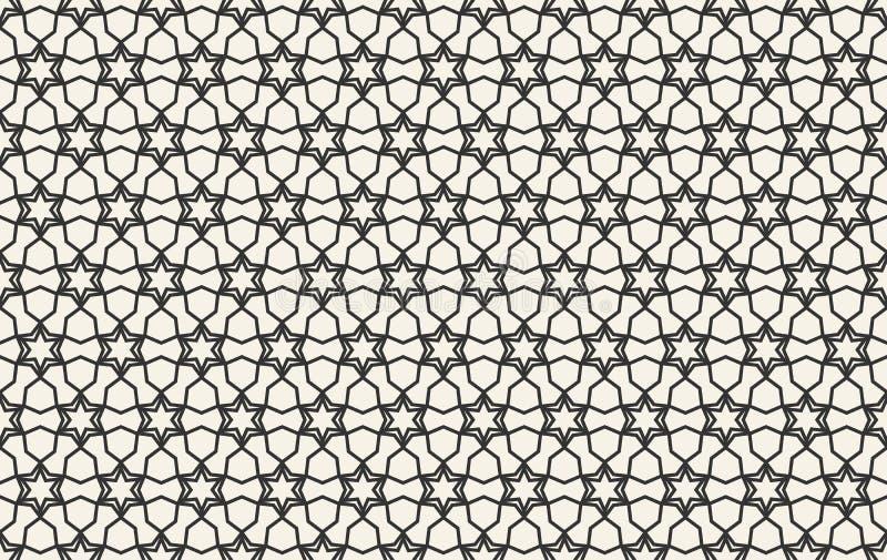 Αφηρημένο άνευ ραφής γεωμετρικό ισλαμικό σχέδιο ταπετσαριών ελεύθερη απεικόνιση δικαιώματος