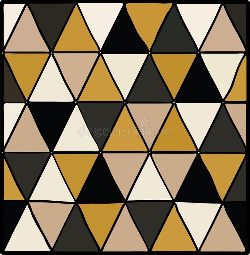 Αφηρημένο άνευ ραφής γεωμετρικό σχέδιο με τα τρίγωνα απεικόνιση αποθεμάτων
