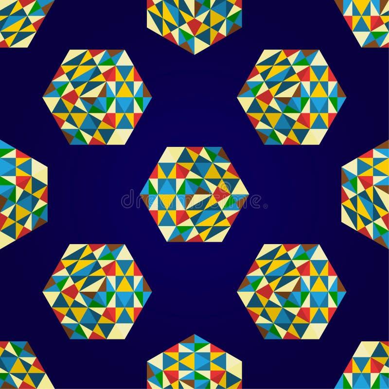 Αφηρημένο άνευ ραφής πρότυπο χρώματος στοκ φωτογραφίες