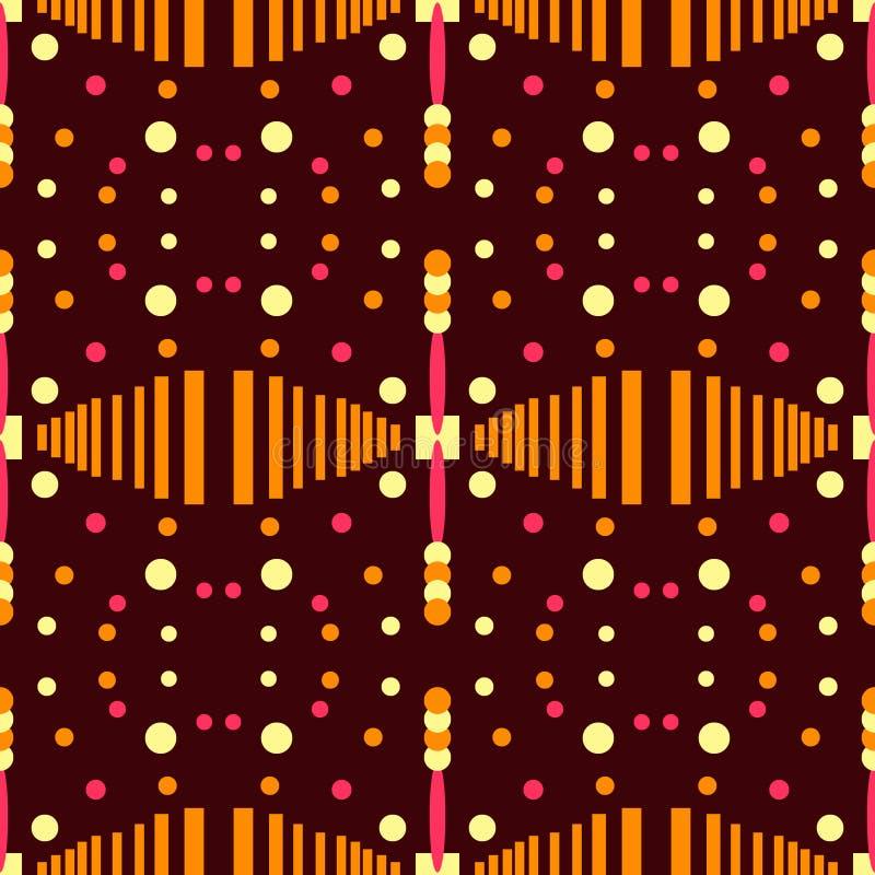 Αφηρημένο άνευ ραφής σχέδιο αντίθεσης αριθμοί γεωμετρικοί διανυσματική απεικόνιση