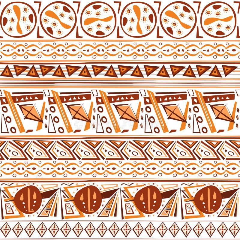 Αφηρημένο άνευ ραφής σχέδιο διακοσμήσεων exotica εθνικό φυλετικό ινδικό διανυσματική απεικόνιση