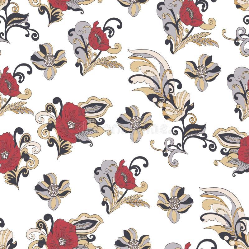Αφηρημένο άνευ ραφής σχέδιο λουλουδιών, διανυσματικό floral υπόβαθρο απεικόνιση αποθεμάτων
