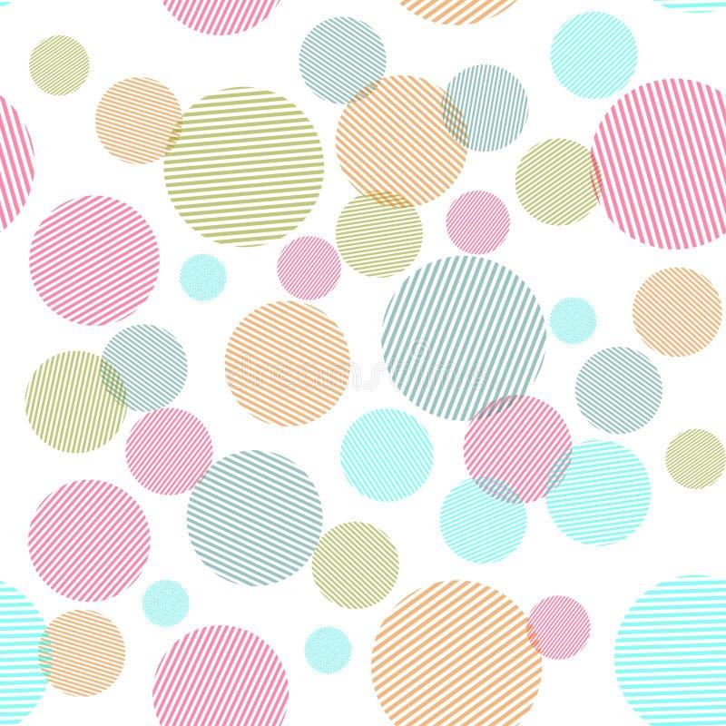 Αφηρημένο άνευ ραφής σχέδιο με τις ζωηρόχρωμες μορφές κύκλων στοκ εικόνες με δικαίωμα ελεύθερης χρήσης