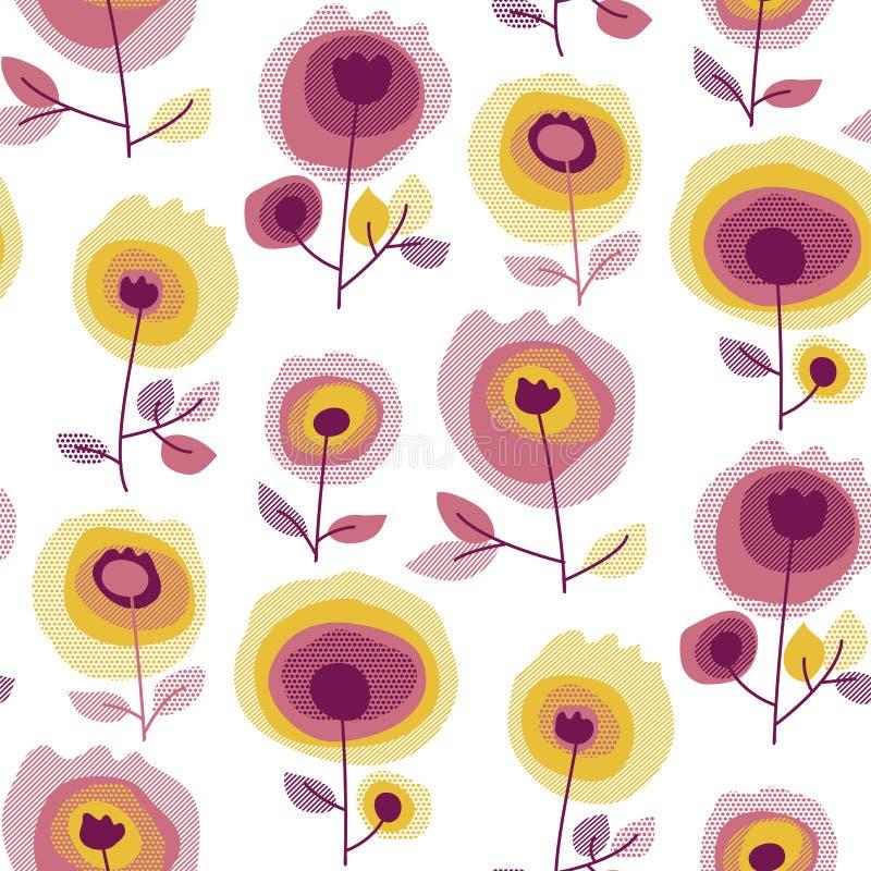 Αφηρημένο άνευ ραφής σχέδιο τριαντάφυλλων ελεύθερη απεικόνιση δικαιώματος