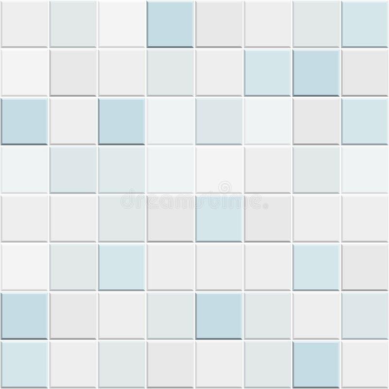 Αφηρημένο άνευ ραφής σχέδιο των άσπρων μπλε κεραμικών κεραμιδιών τοίχων και πατωμάτων Γεωμετρική σύσταση μωσαϊκών σχεδίου για τη  απεικόνιση αποθεμάτων