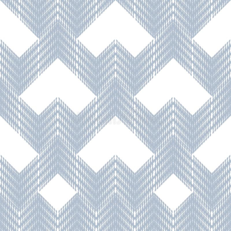 Αφηρημένο άνευ ραφής σχέδιο των εξορμήσεων και των τρεκλισμάτων Ημίτονοι από τα γεωμετρικά στοιχεία διανυσματική απεικόνιση