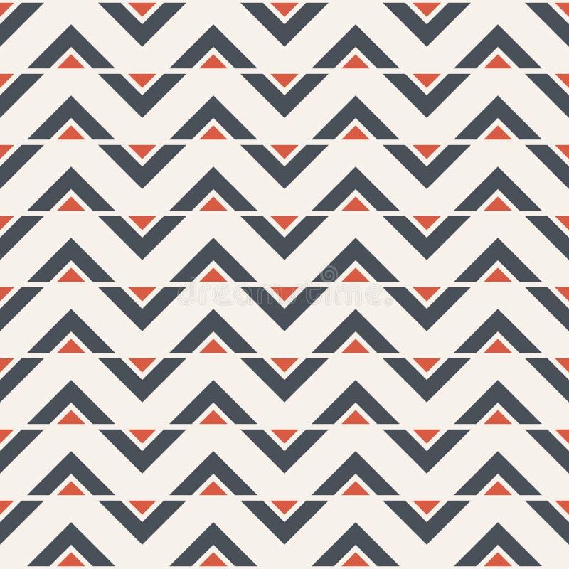 Αφηρημένο άνευ ραφής σχέδιο των τριγώνων σύγχρονη μοντέρνη σύσταση Γραμμές τρεκλίσματος Σχέδιο ψαροκόκκαλων διανυσματική απεικόνιση