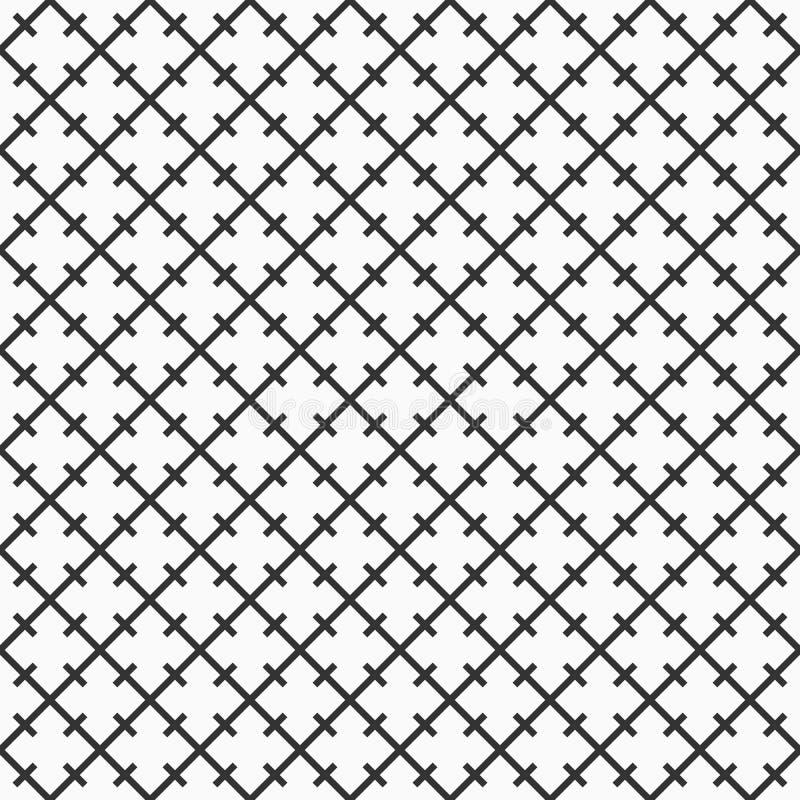 Αφηρημένο άνευ ραφής σχέδιο symmetrically τακτοποιημένος rhombuses και γραμμές διανυσματική απεικόνιση