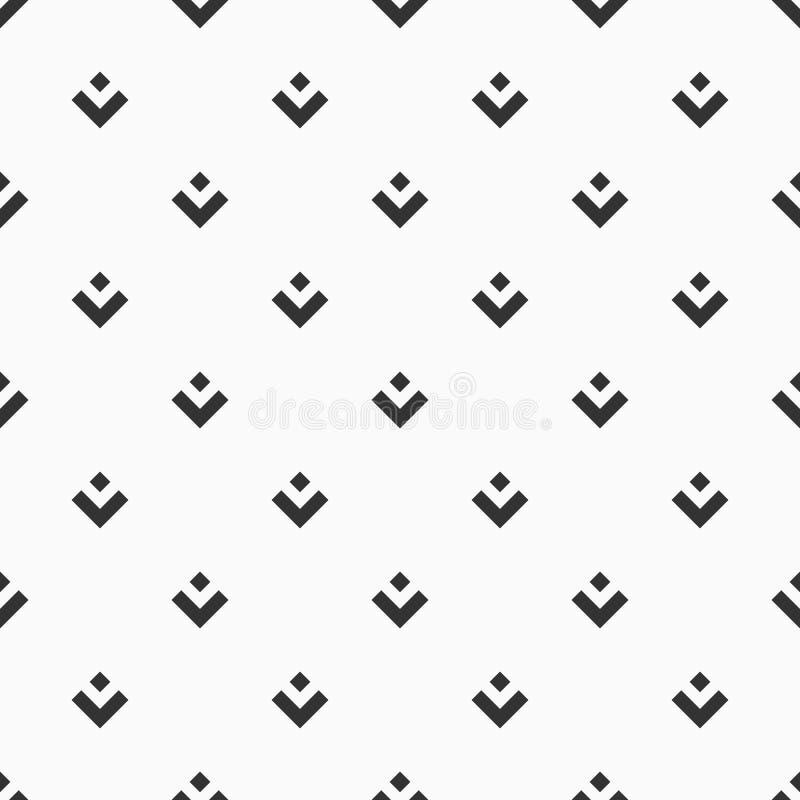 Αφηρημένο άνευ ραφής σχέδιο symmetrically τακτοποιημένος rhombuses και ορθογώνια στοιχεία ελεύθερη απεικόνιση δικαιώματος