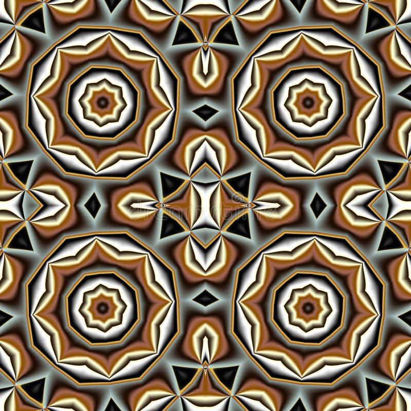 Αφηρημένο άνευ ραφής σχέδιο με τον κύκλο και τη γεωμετρική διακόσμηση Yo απεικόνιση αποθεμάτων
