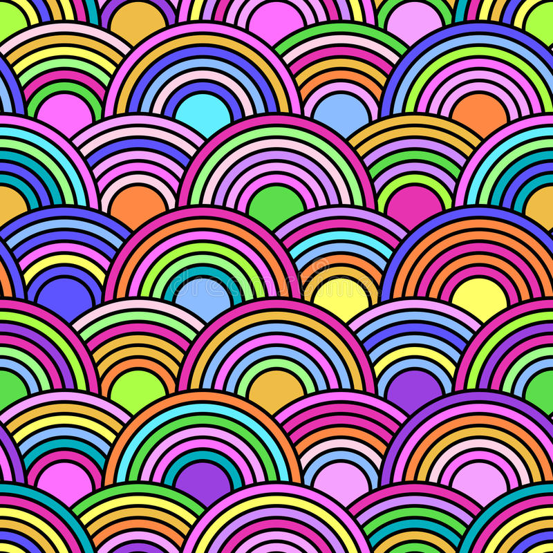 Αφηρημένο άνευ ραφής σχέδιο με τους ζωηρόχρωμους κύκλους απεικόνιση αποθεμάτων