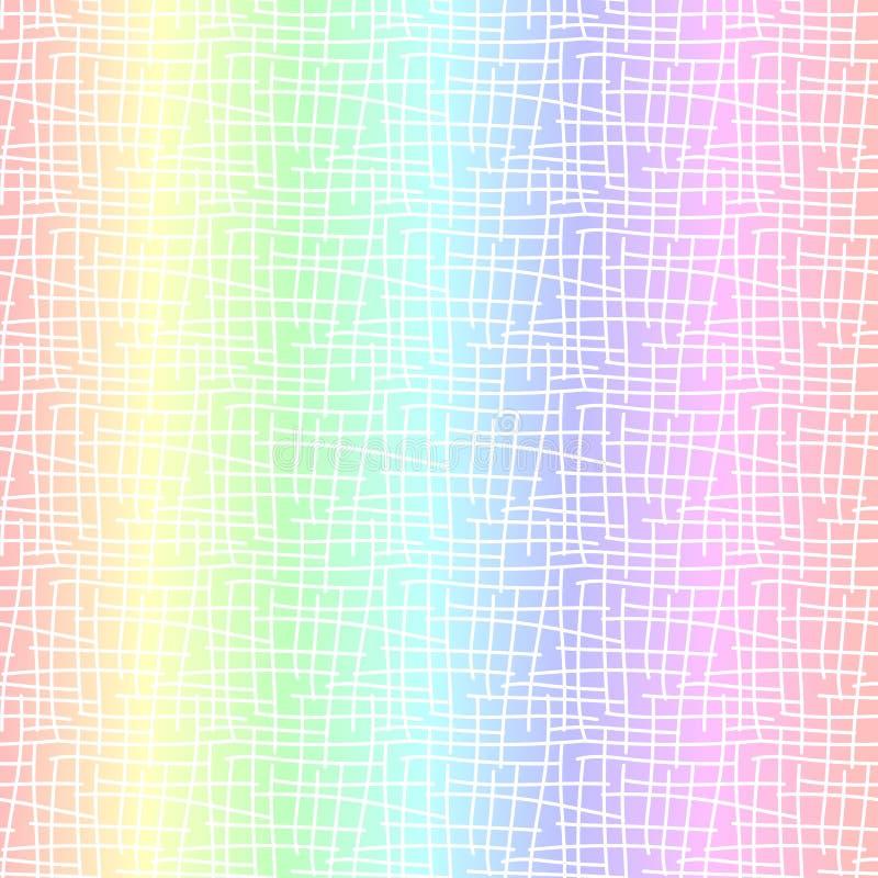 Αφηρημένο άνευ ραφής υπόβαθρο ουράνιων τόξων κρητιδογραφιών διανυσματική απεικόνιση
