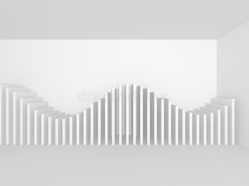 Αφηρημένο άσπρο γεωμετρικό υπόβαθρο αρχιτεκτονικής διανυσματική απεικόνιση