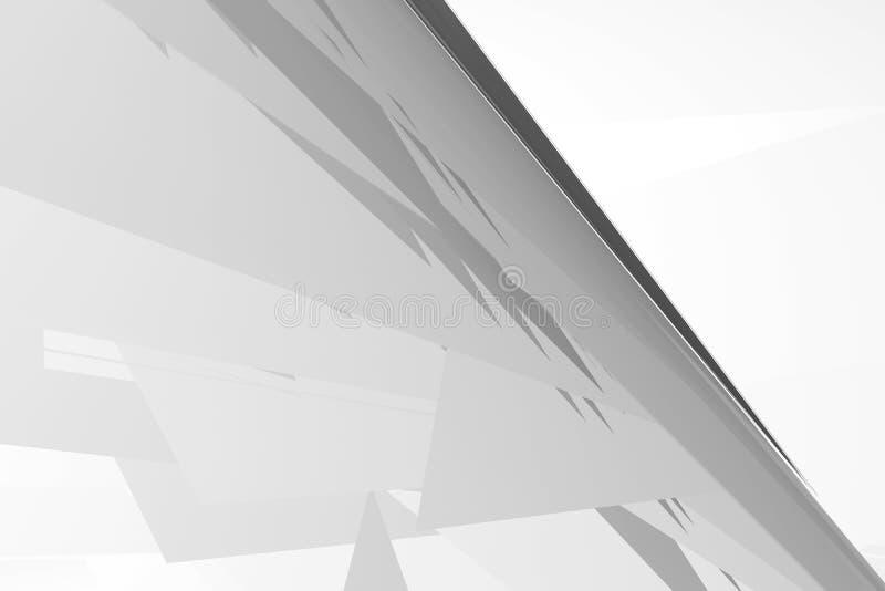 Αφηρημένο άσπρο γκρίζο polygonal σχέδιο διανυσματική απεικόνιση