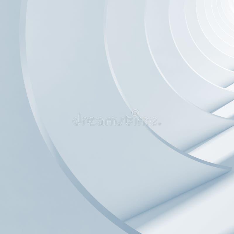 Αφηρημένο άσπρο εσωτερικό Ελάχιστη αρχιτεκτονική απεικόνιση αποθεμάτων