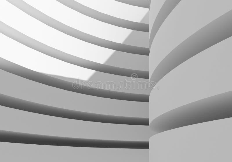 Αφηρημένο άσπρο κτήριο αρχιτεκτονικής απεικόνιση αποθεμάτων