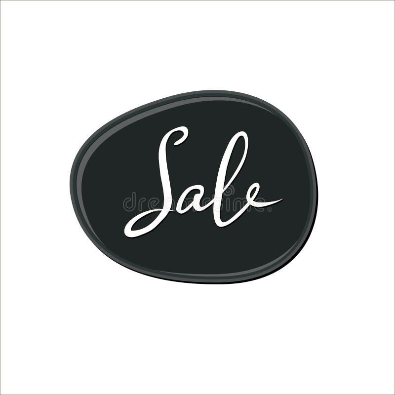 Αφηρημένο άσπρο σημάδι πώλησης πέρα από το μαύρο λεκέ γόμμας φυσαλίδων στο άσπρο υπόβαθρο Πτώση χρωμάτων χρώματος παφλασμός στιλβ ελεύθερη απεικόνιση δικαιώματος