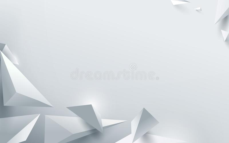 Αφηρημένο άσπρο τρισδιάστατο polygonal υπόβαθρο επίσης corel σύρετε το διάνυσμα απεικόνισης απεικόνιση αποθεμάτων