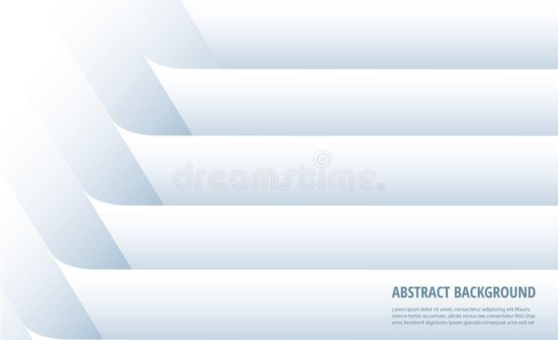 Αφηρημένο άσπρο υπόβαθρο γραμμών o διανυσματική απεικόνιση
