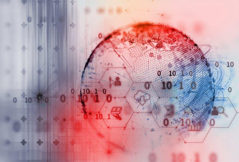 Αφηρημένο άσπρο ψηφιακό υπόβαθρο τεχνολογίας απεικόνιση αποθεμάτων