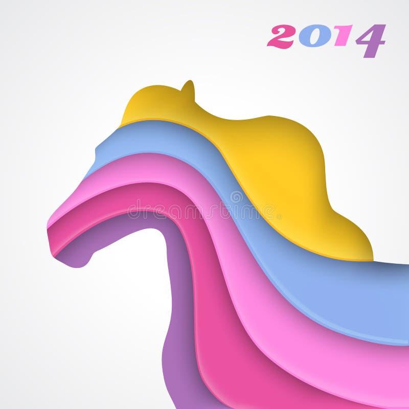 Αφηρημένο άλογο εγγράφου applique διανυσματική απεικόνιση