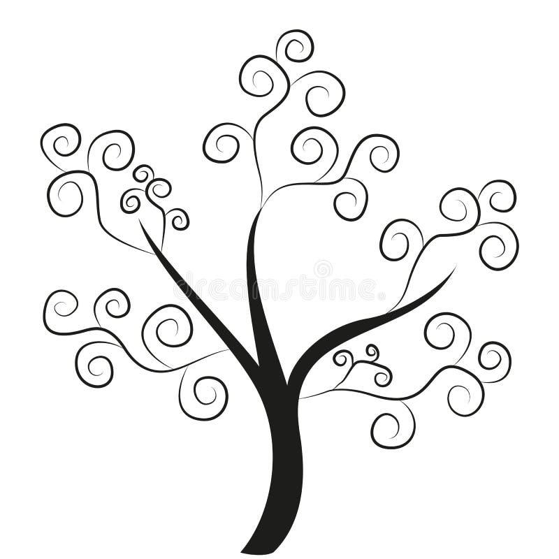 Αφηρημένο δέντρο διανυσματική απεικόνιση
