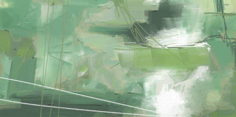 Αφηρημένο έργο τέχνης ύφους ελαιογραφίας στον καμβά διανυσματική απεικόνιση