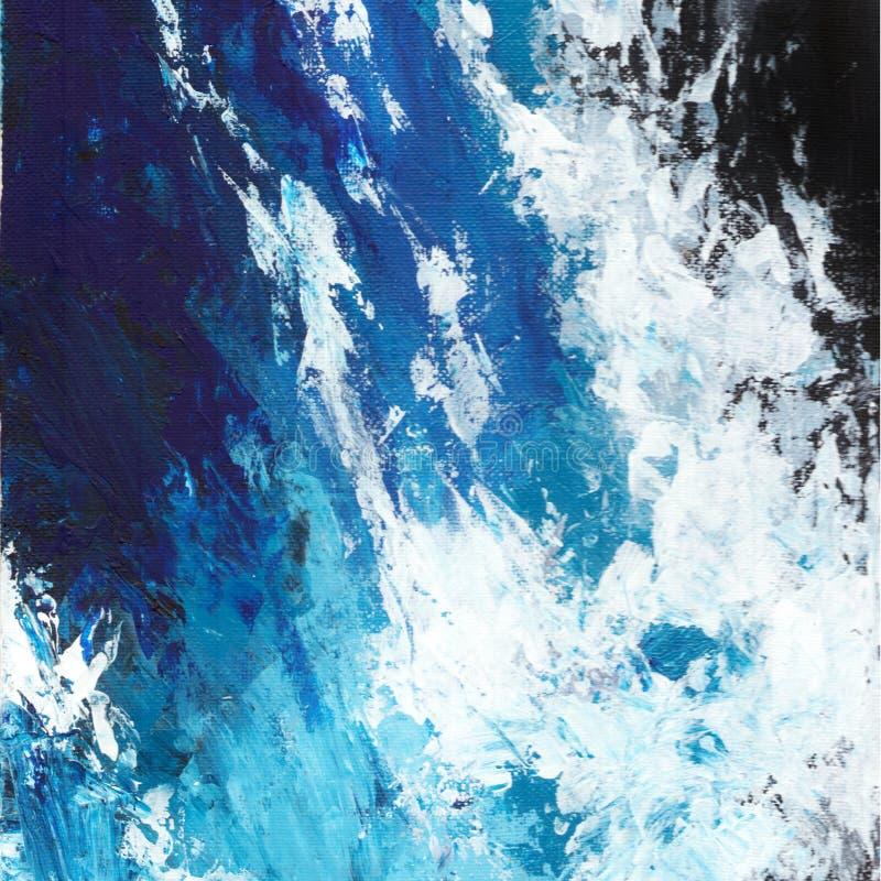 Αφηρημένο έργο τέχνης acrilyc Ακρυλικά κύματα ελεύθερη απεικόνιση δικαιώματος