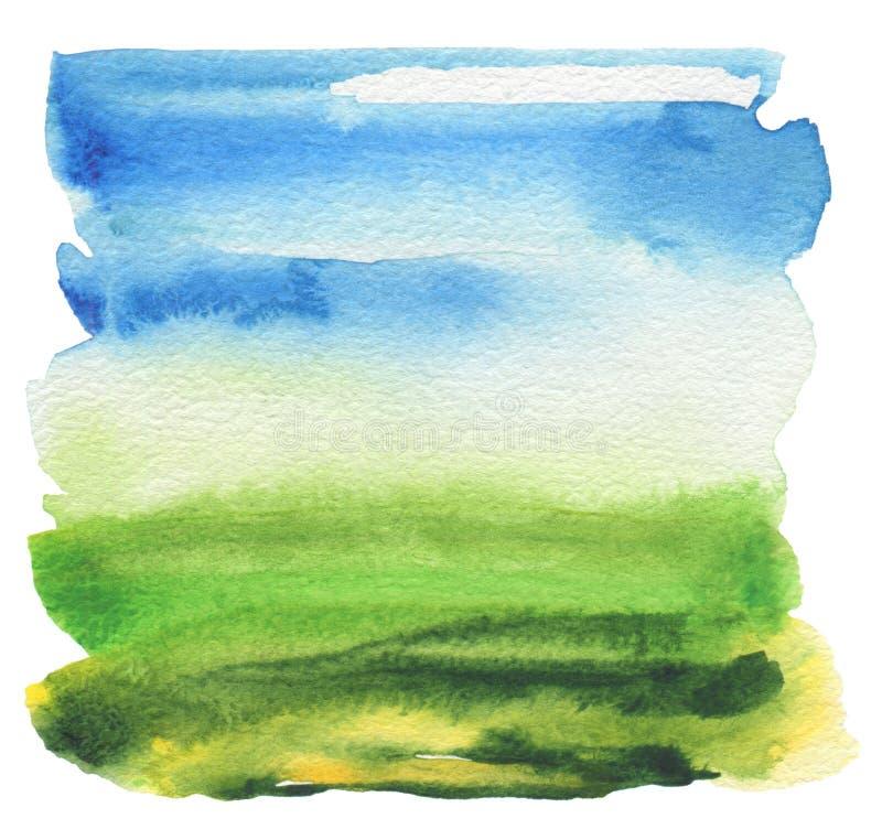 Αφηρημένο ακρυλικό και χρωματισμένο watercolor πλαίσιο στοκ φωτογραφίες