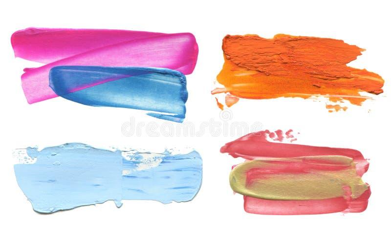 Αφηρημένο ακρυλικό κτύπημα βουρτσών χρώματος απομονωμένος απεικόνιση αποθεμάτων