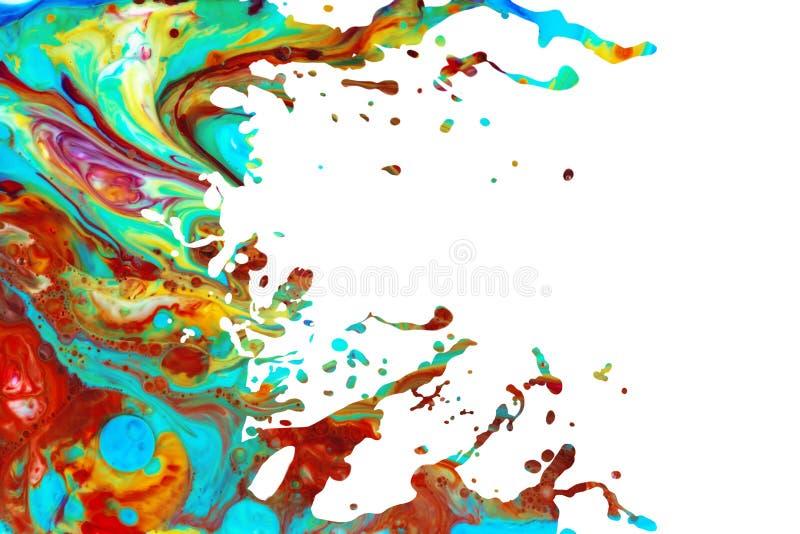 Αφηρημένο ακρυλικό υπόβαθρο παφλασμών χρωμάτων στοκ εικόνα με δικαίωμα ελεύθερης χρήσης