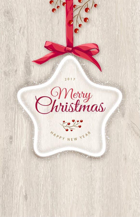 αφηρημένο ανασκόπησης Χριστουγέννων σκοτεινό διακοσμήσεων σχεδίου λευκό αστεριών προτύπων κόκκινο Νέο υπόβαθρο 2017 έτους και θέσ ελεύθερη απεικόνιση δικαιώματος