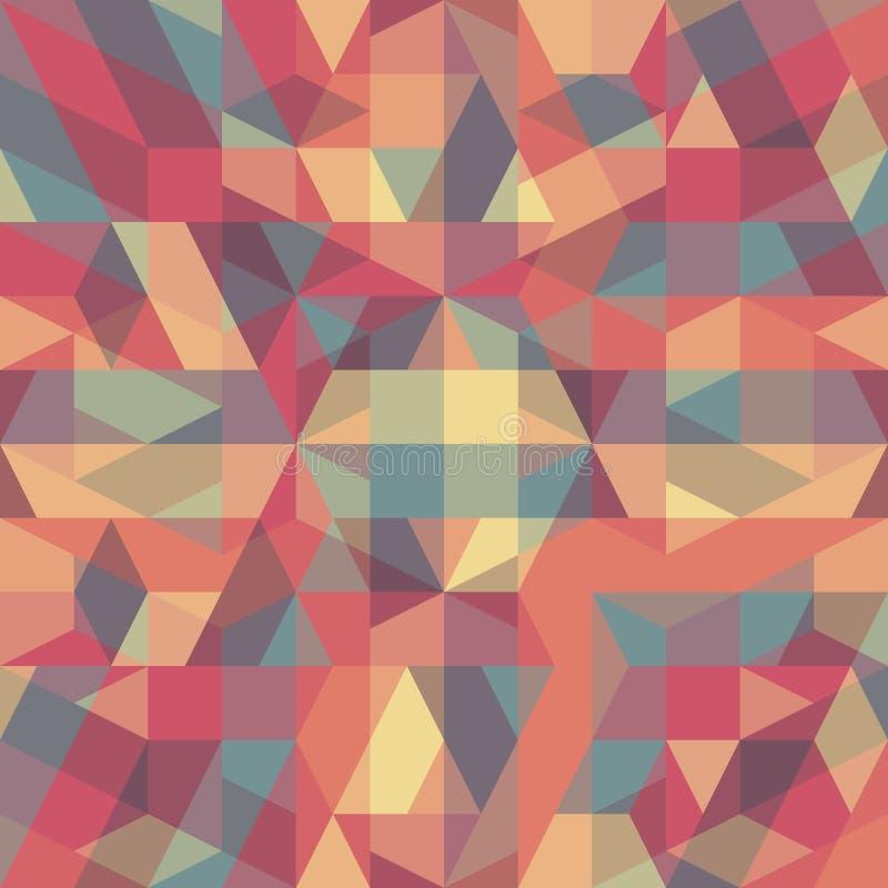 Αφηρημένο αναδρομικό γεωμετρικό σχέδιο απεικόνιση αποθεμάτων