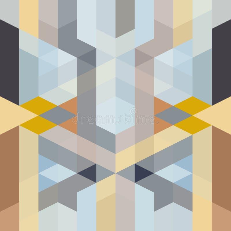 Αφηρημένο αναδρομικό γεωμετρικό σχέδιο deco τέχνης ελεύθερη απεικόνιση δικαιώματος