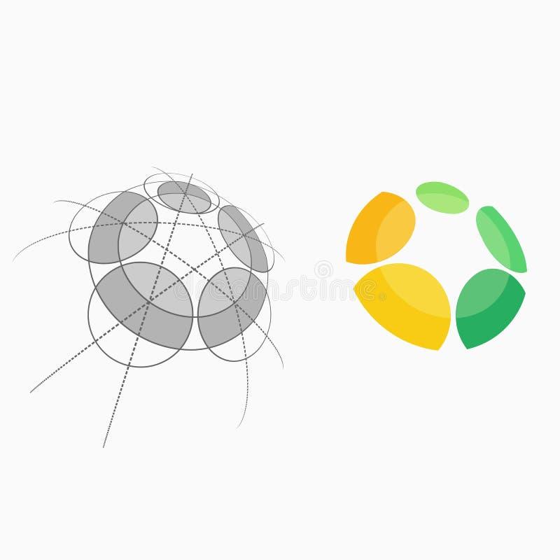 Αφηρημένο ανθρώπινο ζωηρόχρωμο διανυσματικό πρότυπο απεικόνισης ελεύθερη απεικόνιση δικαιώματος