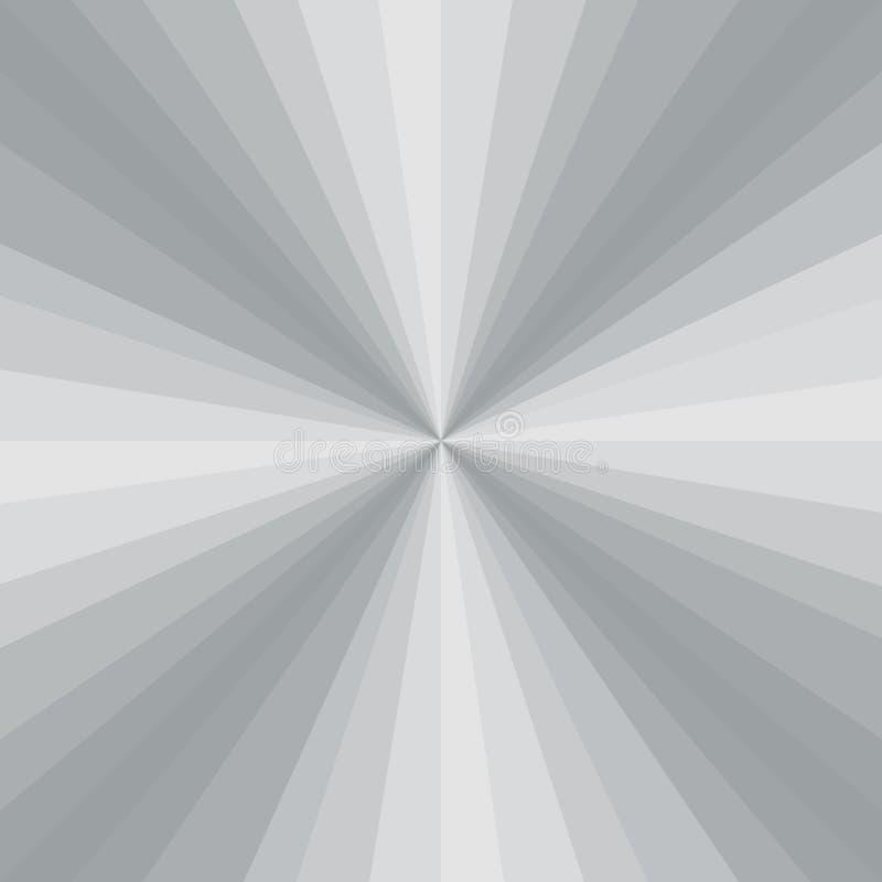 Αφηρημένο ανοικτό γκρι υπόβαθρο ακτίνων βαθμολογήσεων r διανυσματική απεικόνιση