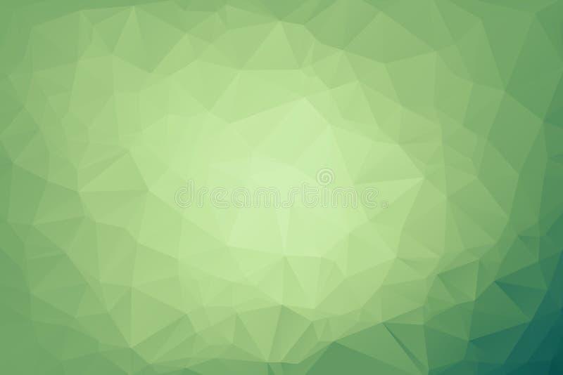 Αφηρημένο ανοικτό πράσινο λάμποντας τριγωνικό υπόβαθρο Ένα δείγμα με τις polygonal μορφές Το κατασκευασμένο σχέδιο μπορεί να χρησ απεικόνιση αποθεμάτων