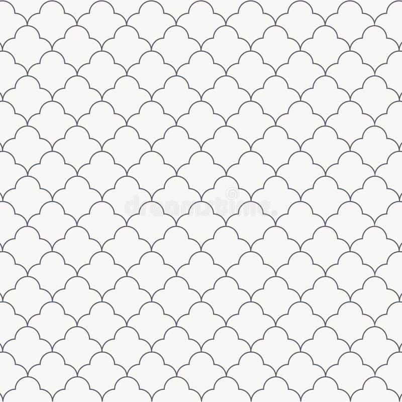 Αφηρημένο απλό γραμμικό λουλούδι, μονοχρωματική μοντέρνη επανάληψη με τους κύκλους γραφικός καθαρός για το ύφασμα, ταπετσαρία, εκ ελεύθερη απεικόνιση δικαιώματος