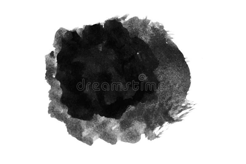 Αφηρημένο απομονωμένο τμήμα χρώματος μελανιού στο φόντο διανυσματική απεικόνιση