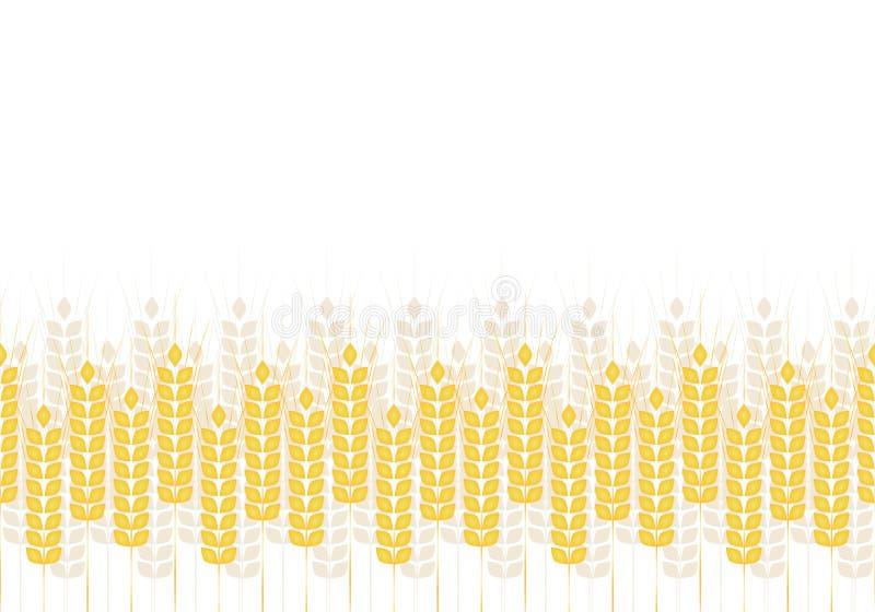 Αφηρημένο απλό σχέδιο των αυτιών σίτου, διανυσματική διακόσμηση στοκ εικόνες με δικαίωμα ελεύθερης χρήσης