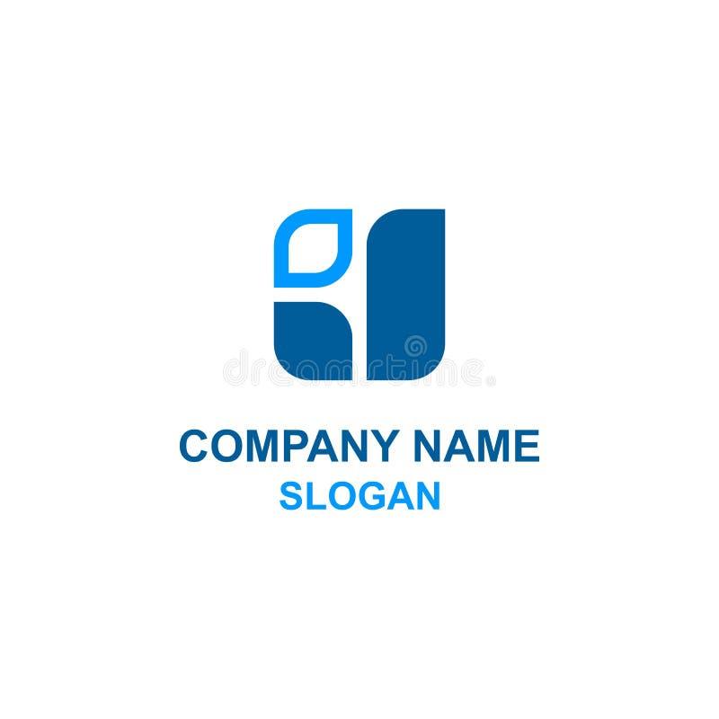 Αφηρημένο αρχικό τετραγωνικό λογότυπο επιστολών J απεικόνιση αποθεμάτων
