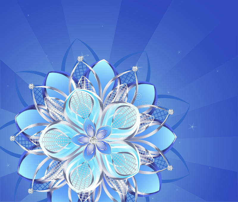 αφηρημένο ασήμι λουλου&delta διανυσματική απεικόνιση