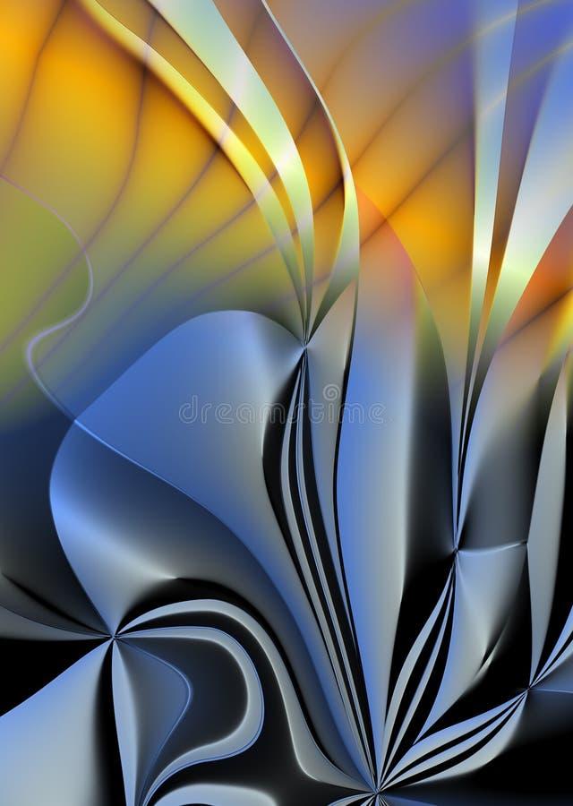 αφηρημένο ασήμι λουλου&delta απεικόνιση αποθεμάτων