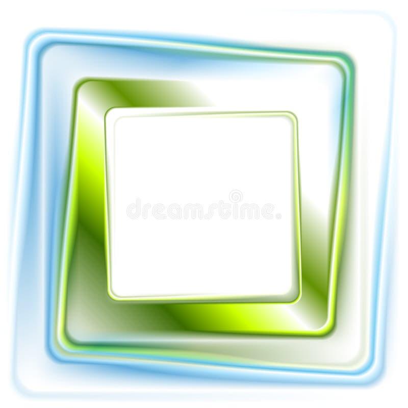 Αφηρημένο βεραμάν μπλε τετραγωνικό σχέδιο λογότυπων διανυσματική απεικόνιση