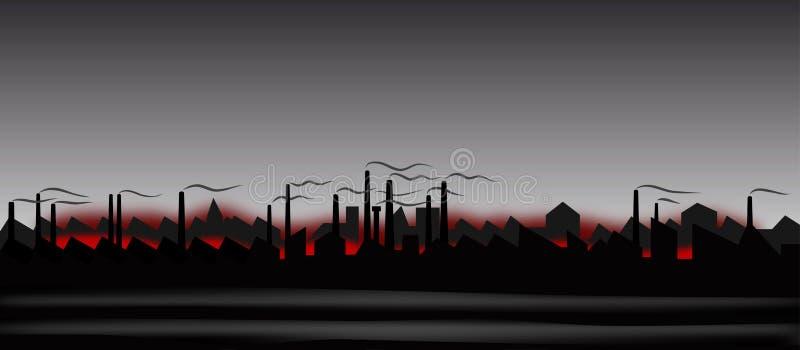Αφηρημένο βιομηχανικό τοπίο απεικόνιση αποθεμάτων