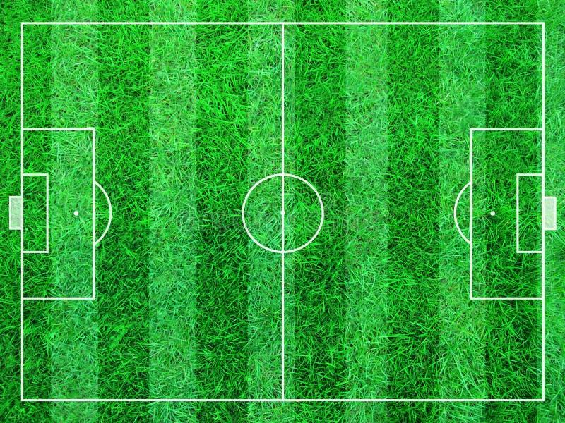 Αφηρημένο γήπεδο ποδοσφαίρου απεικόνιση αποθεμάτων