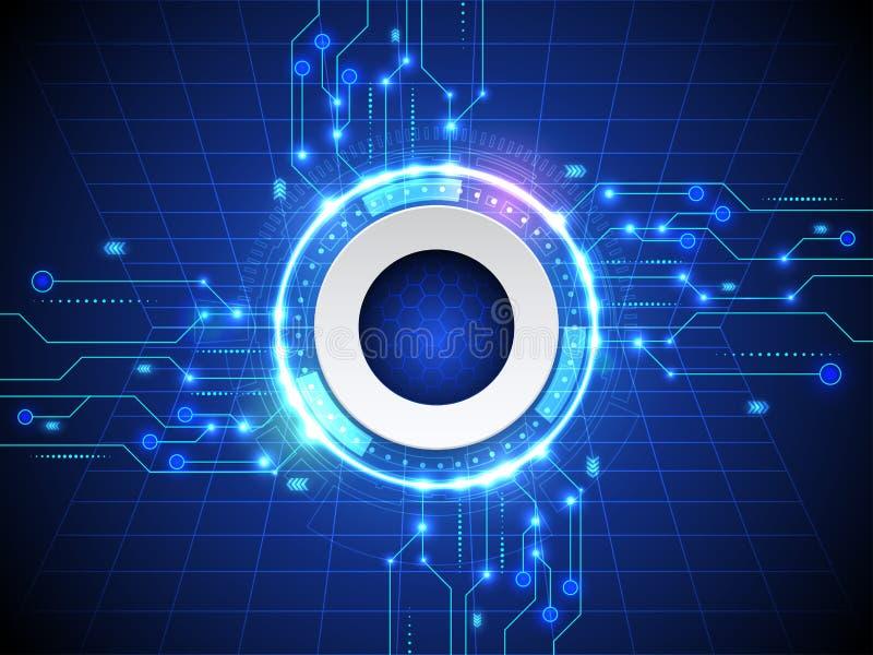 Αφηρημένο γεια μπλε υπόβαθρο τεχνολογίας Διαδικτύου ταχύτητας ελεύθερη απεικόνιση δικαιώματος