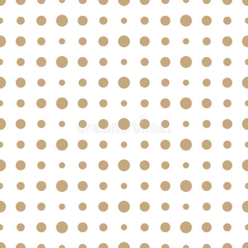 Αφηρημένο γεωμετρίας χρυσό deco σχέδιο Πόλκα τέχνης ημίτονο απεικόνιση αποθεμάτων